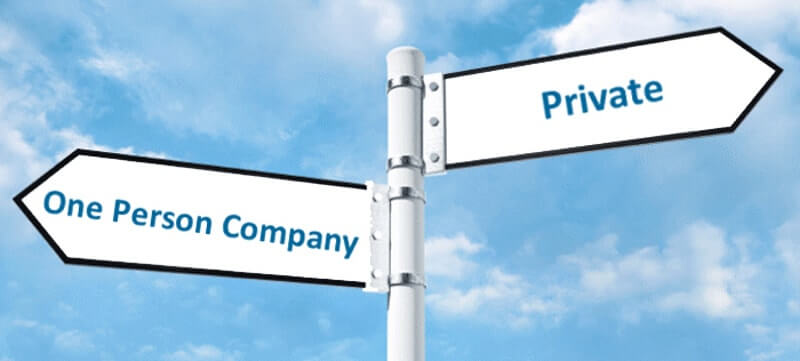 One Person company into private or public company