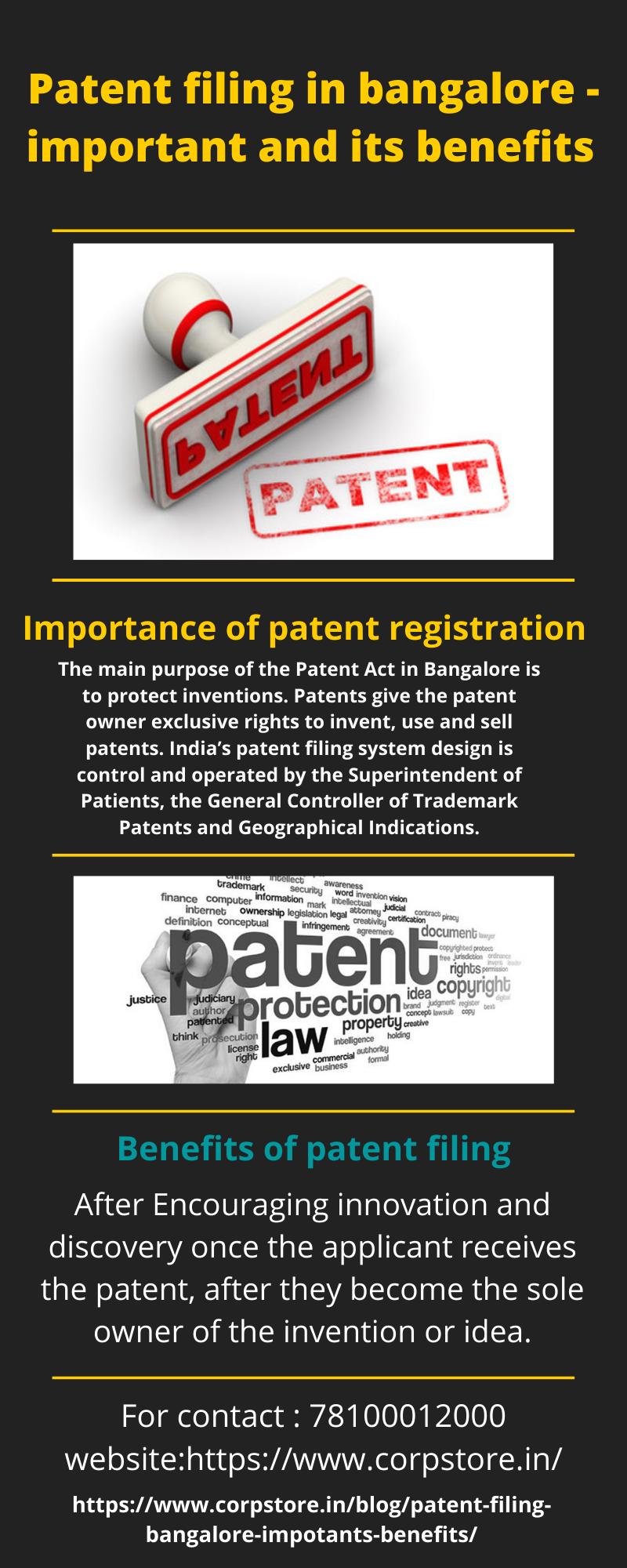 patent filing in bangalore