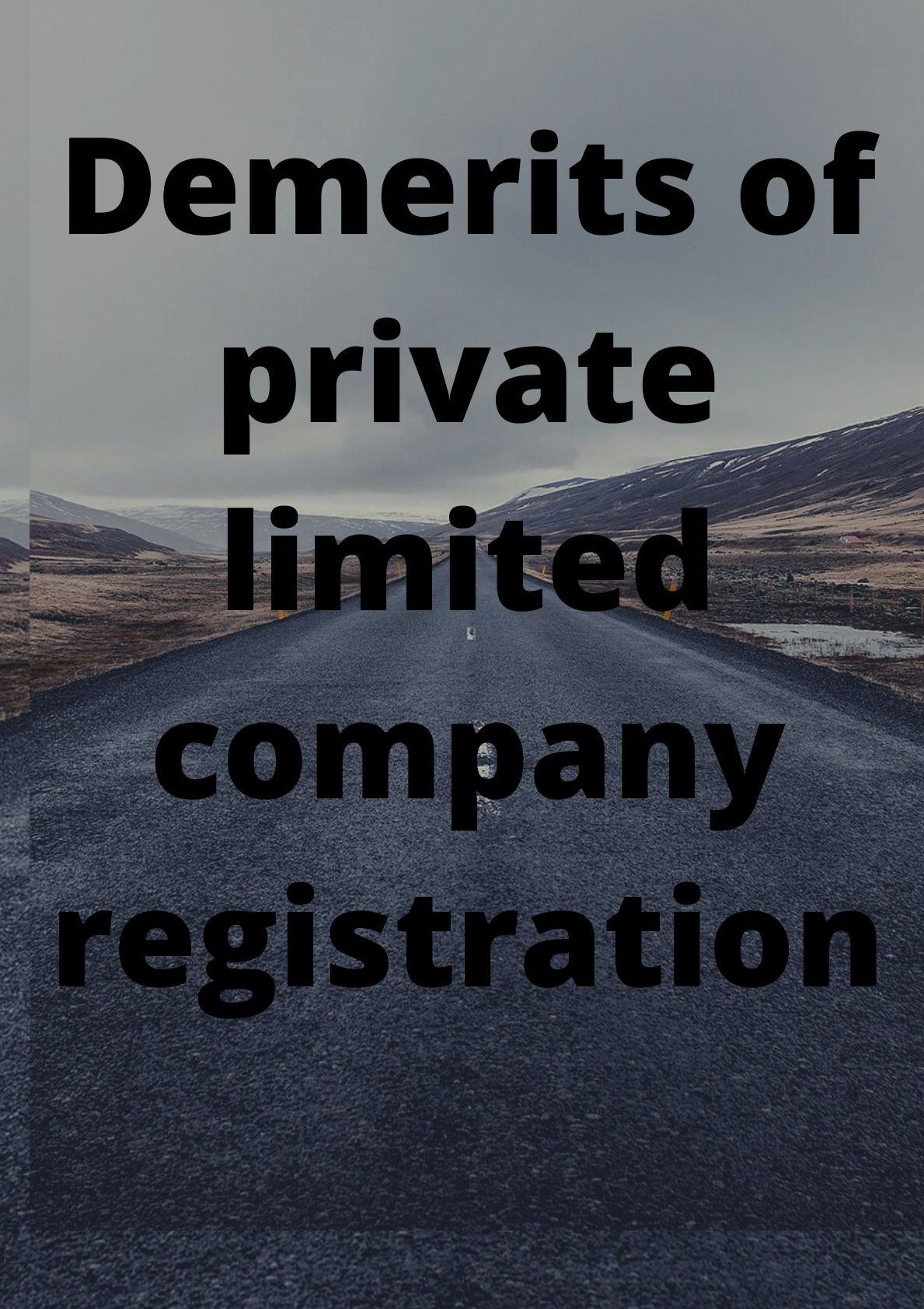 demerits of private limited company
